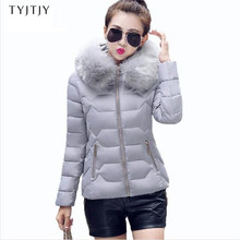 Womens Winter Jackets And Coats 2019 Women's Parkas Thick Warm Faux Fur Collar Hooded Anorak Ladies Jacket Female Manteau Femme(China)