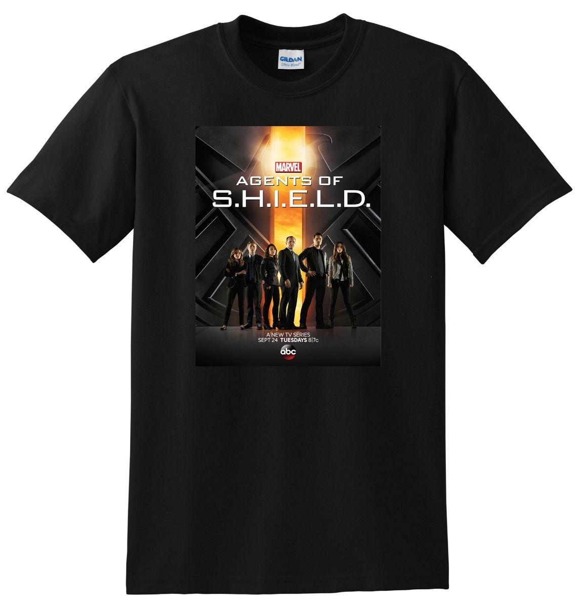 AGENTS OF SHIELD T SHIRT s.h.i.e.l.d season 1 2 S-3XL Simple Short-Sleeved Cotton T-Shirt Top Tee Print Tee Shirts