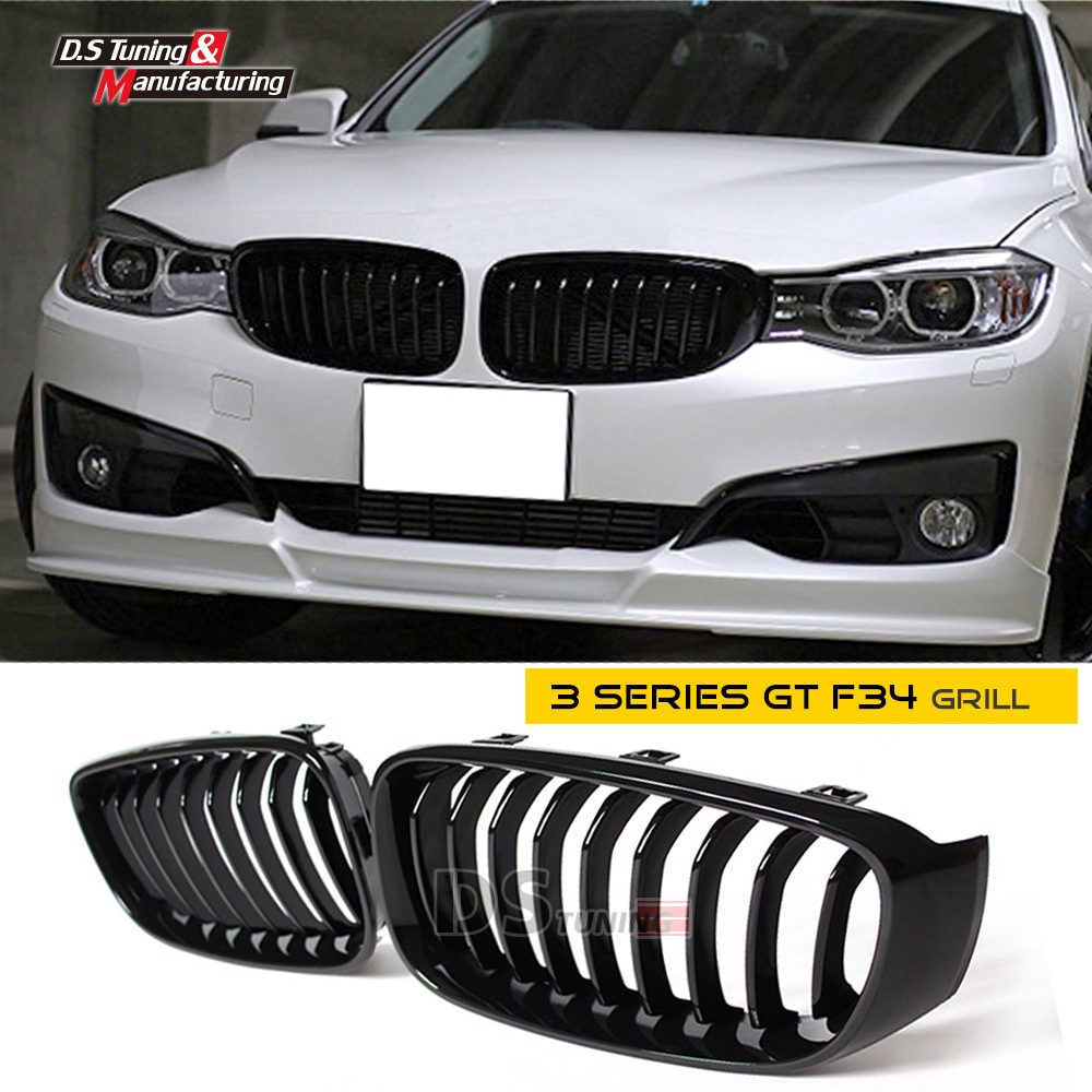 F34 matte / gloss black grill front grille mesh for bmw 3 series Gran Turismo gt f34 single slat grill 320i 328i 318d 320d фаркоп aragon на bmw serie 3 f34 gt 2012 тип крюка a г в н 1800 75кг e0800ja