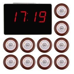 433,92 мГц Беспроводной вызова Системы 1 шт. голос доклад хоста получателя + 10 шт. кнопки вызова, ресторан пейджер питание оборудования f3360