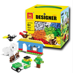 625 Pcs Tijolos Wange 58231 DIY Criativo Grosso Brinquedos Tijolo Blocos de Construção Criança Brinquedos Educativos Tijolos Compatível Com Lego