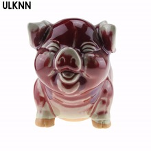 Фотография ULKNN Happy pig pig rich porcelain ceramic twelve 12 zodiac feng shui ornaments Home Furnishing jewelry crafts