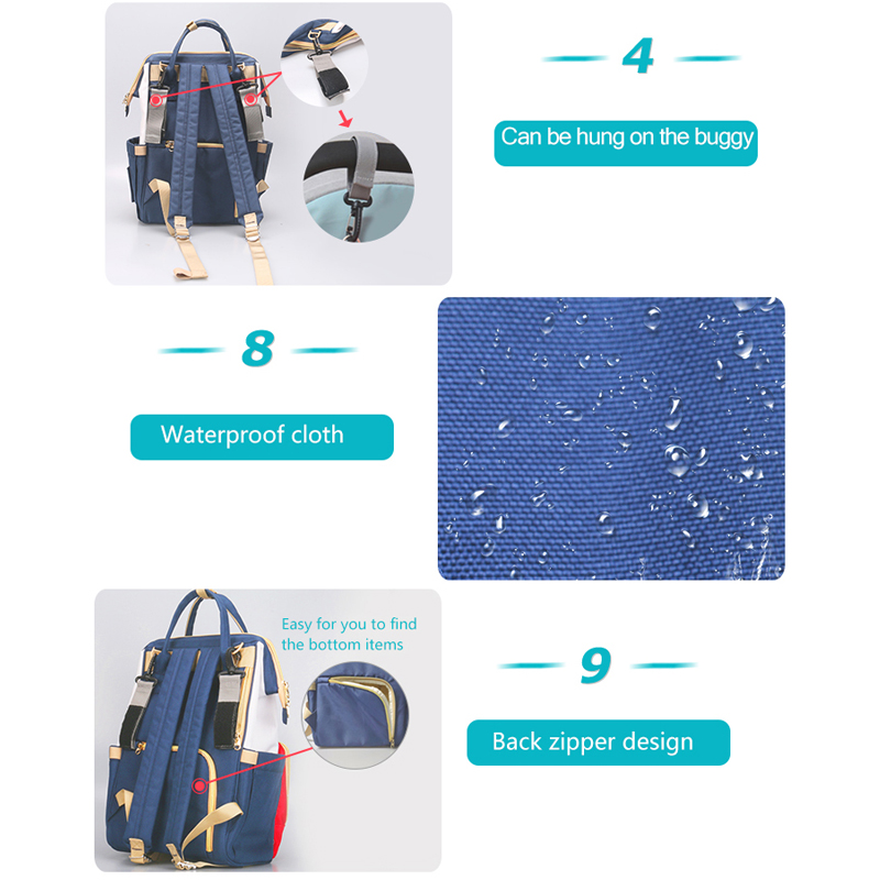 AAG Multifunction Mummy Bag Baby Diaper Bag Travel Backpack Large Baby Maternity Nappy Changing Bag Infant Nursing Bags Reusable in Diaper Bags from Mother Kids