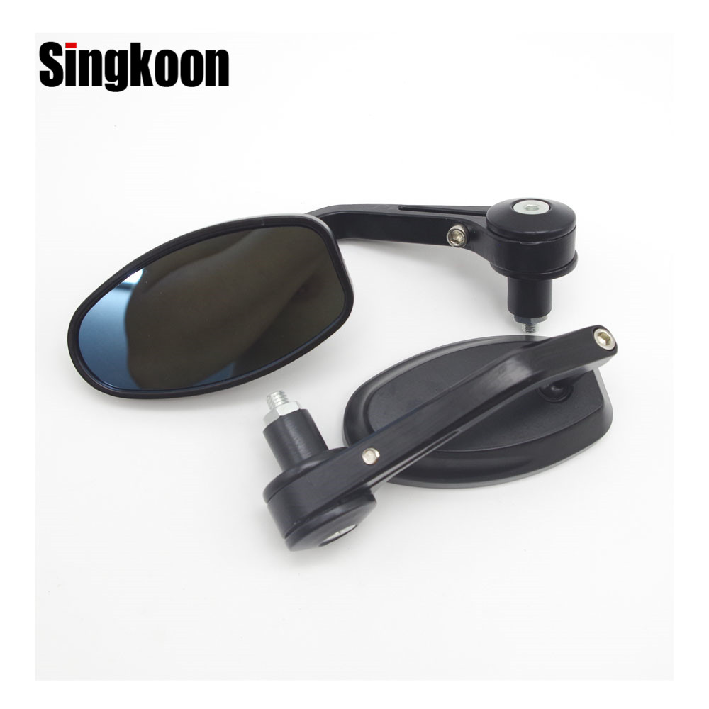 22mm Universal Motorcycle Accessories Mirrors Rearview Side Bar End Mirrors FOR honda cbr 250r Yamaha xsr900 Suzuki gsxr 600 k7 in Side Mirrors Accessories from Automobiles Motorcycles