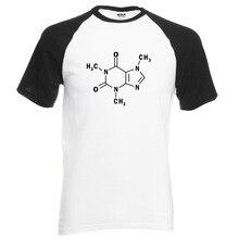 New Arrival Adult Science T Shirt Sheldon Caffeine Molecular Formula print 2016 summer 100% cotton raglan men t-shirt loose fit