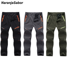 NaranjaSabor Spring Summer Men s Quick Dry Casual Long Pants Breathable Joggers Trousers Male Plus Size