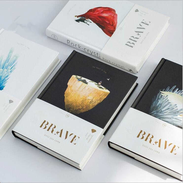 Brave Heart Planner Diary Journal Lined Grid Planning Papers Notebook Study Working Notepad Memo a5 brave heart notebook hard copybook diary diy planner travel journal white kraft fashion stationery office suppiles