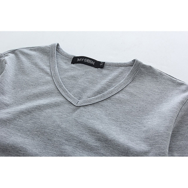 Hot Sale New spring high-elastic cotton t-shirts men's long sleeve v neck tight t shirt free CHINA POST shipping Asia S-XXXXXL 3