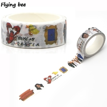 Flyingbee 15mmX5m Paper Washi Tape Friends TV Show Adhesive Tape DIY Scrapbooking Sticker Label Masking Tape X0260