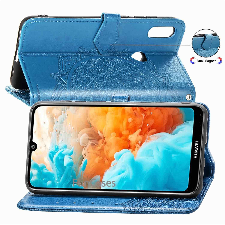 SFor Huawei y6 2019 Case Huawei Y6 2019 Leather case For Huawei Y6 2019 MRD-LX1 MRD-LX1F Y 6 2019 محفظة قلابة للهاتف