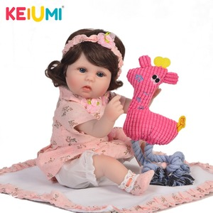 17 Inch Reborn Baby Stuffed Body Dolls Looks Like Princess 43 cm Babies Reborn Dolls KEIUMI Wholesale kids XMAS Gifts