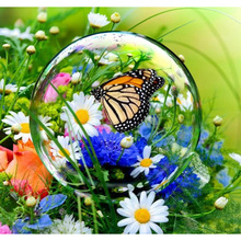 DIY 5D diamond painting flower glass butterfly embroidery flowers full rhinestones mosaic  christmas paint diamonds