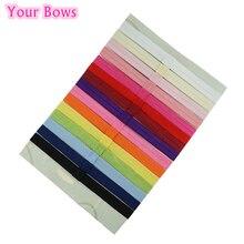 Your Bows 15Pcs/Lot 15 Colors Girls Headband Newborn Hair Accessories Children Elastic Hair Bands
