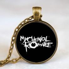 Steampunk Rock Band My Chemical Romance zinc alloy art Pendant Necklace glass doctor who 1pcs/lot women mens vintage chain 1 man
