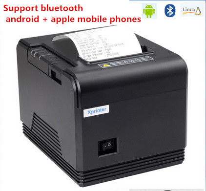 ФОТО Bluetooth android printer Q200 High quality pos printer 80mm receipt Bills printer automatic cutting machine printing speed Fast