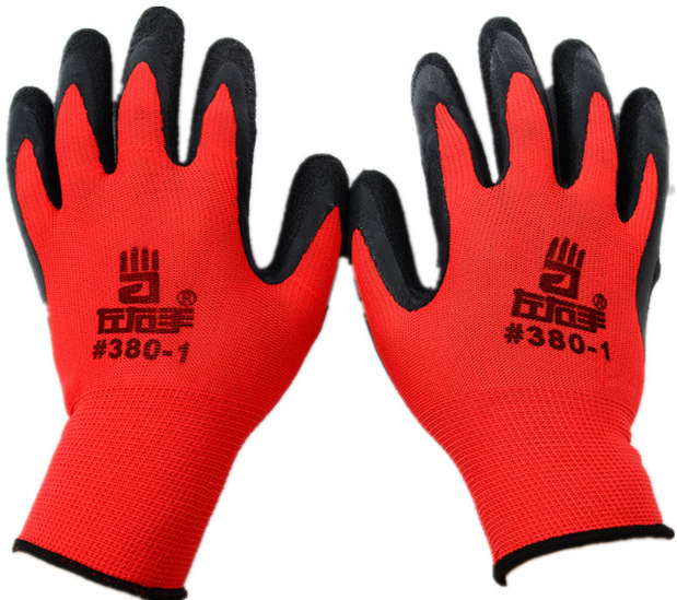New Nylon Latex Glove Labor Gloves Anti Cutting And -7279