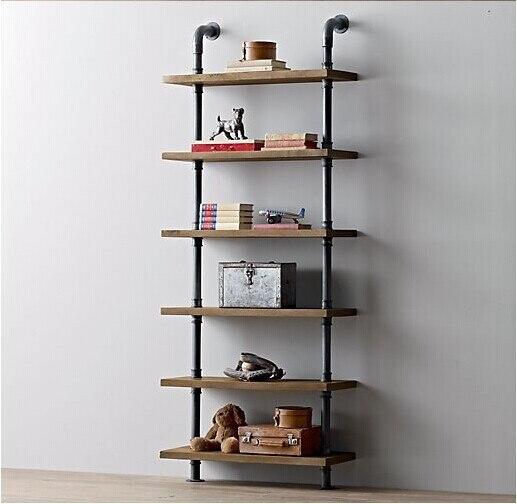 meubles rétro américaine clins de bois étagère murale étagère de