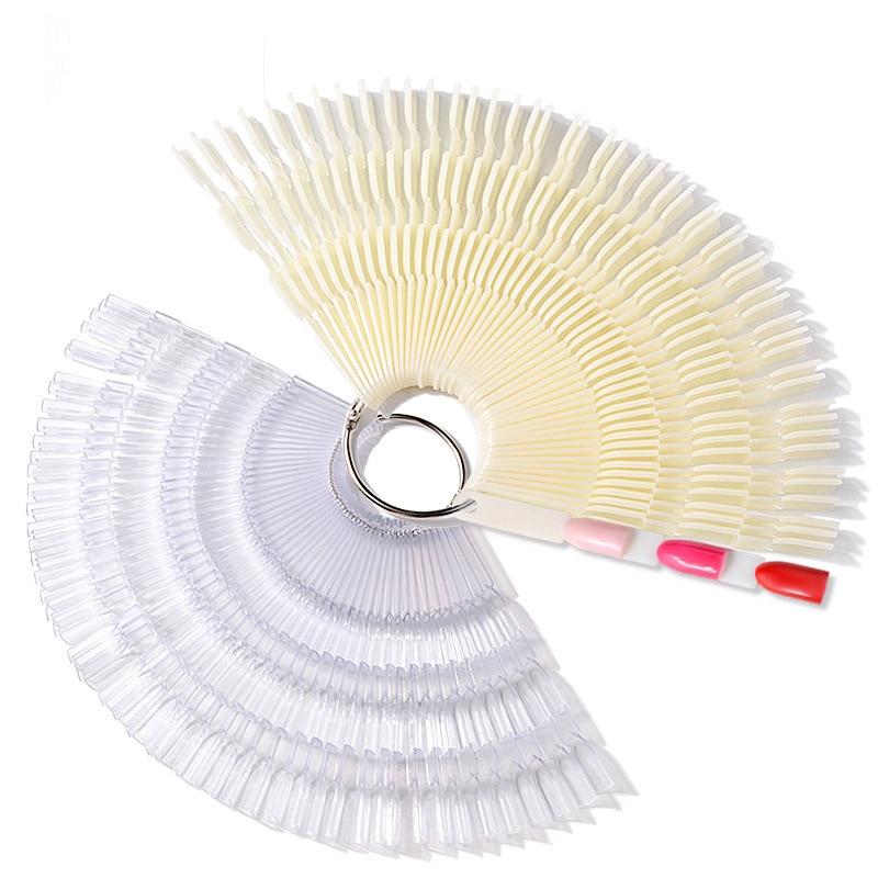 Pandahall 150PCS False Nail Tips Transparent Natural Color Card Nail Art Practice Display in False Nails from Beauty Health