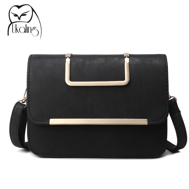UKQLING Vintage Women Messenger Bags with Long Strap Crossbody Bag for Girls Small Tote Purse Phone Package Bolsas Femininas