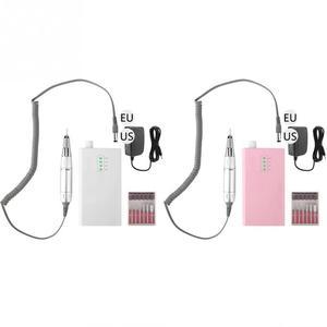 Image 4 - 30000 rpm ポータブル電気ネイルドリルマシン充電式コードレスマニキュアペディキュア用機器 ue/米国のプラグイン