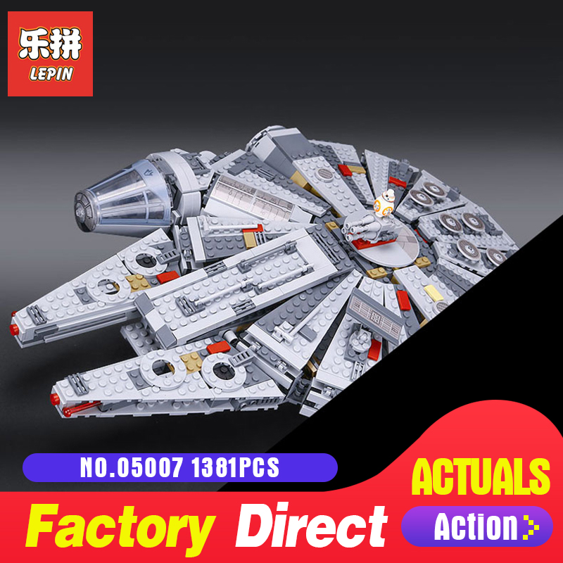 Lepin 05007 Model Building Kits Blocks Star Destroyer Small Millennium Falcon toys for bpys LegoINGlys 10467 Gifts Wars ynynoo lepin 05007 star assembling building blocks marvel toy compatible with 10467 educational boys gifts wars