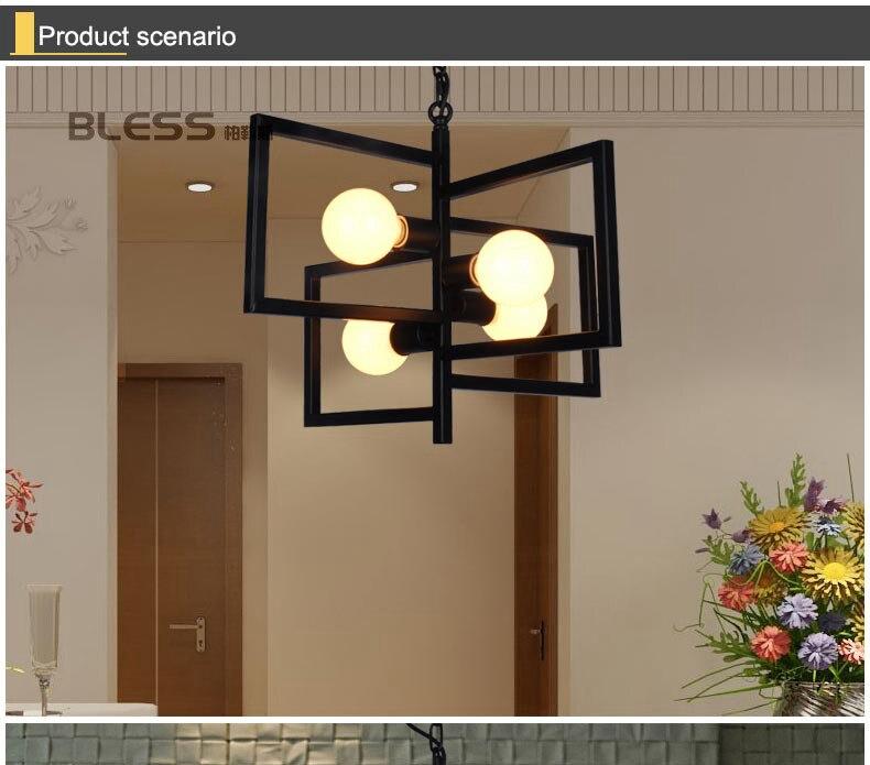 American Village Light Industry Retro-Stil Kronleuchter - Innenbeleuchtung - Foto 6
