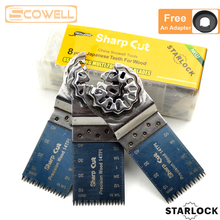 30% Off 8 PCS Japanese Teeth Starlock Oscillating Multi Tool Saw Blades For Multimaster Oscillating Tools machines Plunge saw self ordered fronts under oscillating zero mean forces