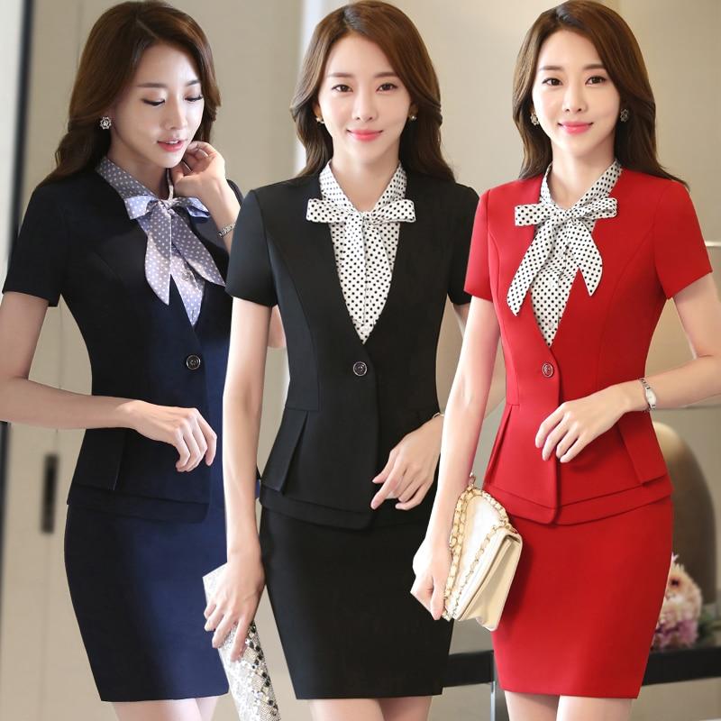 Hotel Uniform Summer Female Front Desk Manager Set Cashier