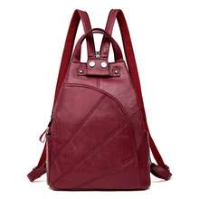 Leisure Women Backpacks Women's High Quality PU Leather Backpacks Female school Shoulder Bags for Teenage Girls Travel Back pack стоимость