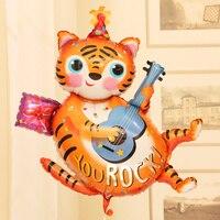 Doğum günü hayvan balonlar parti dekorasyon malzemeleri helyum folyo düğün karikatür bebek kedi hayvan şekilli balonlar hayvanlar oyuncaklar