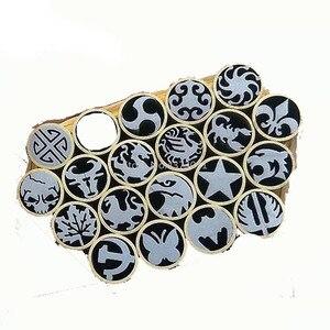 8mm mosaic rivets for DIY Knife handle length 45mm mosaic screw nail for DIY knife handle material brass tube(China)