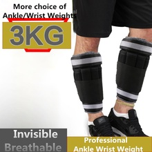 Ankle / Wrist Weights (3 KG / Pair ) for Women, Men and Kids - Fully Adjustable Weight for Arm& Leg - Best for Walking, Jogging