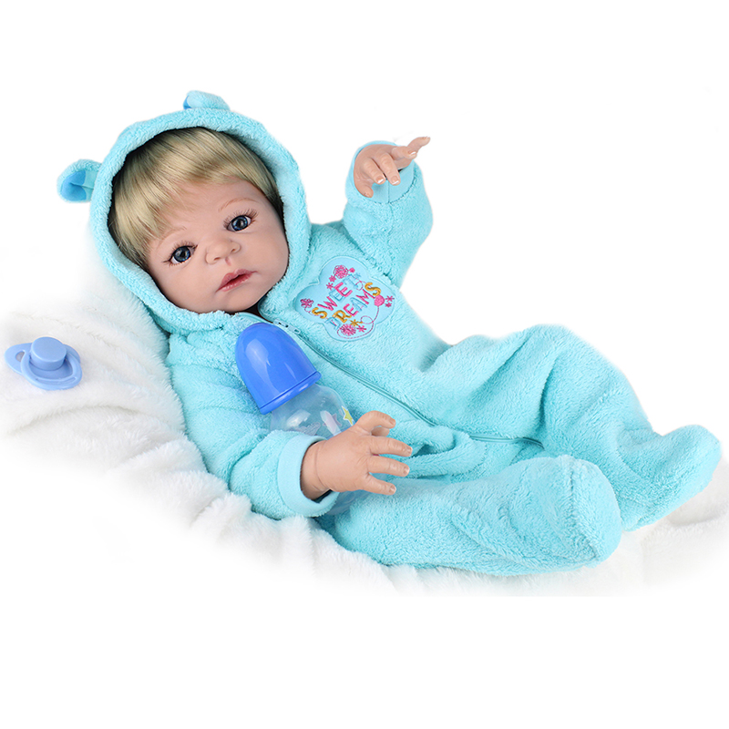 NPKDOLL 22inches reborn baby doll bebe reborn full body silicone american boy dolls children kids toys gift mother to be gift silicone reborn toddlers 22inches solid realistic full body cosplay reborn dolls wholesale