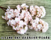 Free Shipping 8pcs Lot 108cm 42 52 Length Artificial Simulation Silk Cherry Blossom Wedding Decoration Flowers