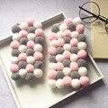 Moda bolas de pelúcia casos de telefone para o caso apple iphone 7 5 6 6 s 7 Plus capa Protetora ROSA Multicolor Inverno quente Livre grátis