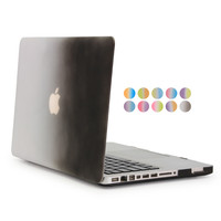 For Macbook Pro 13 Case Rainbow Gradient Color White And Black Full Protect Cover For Apple