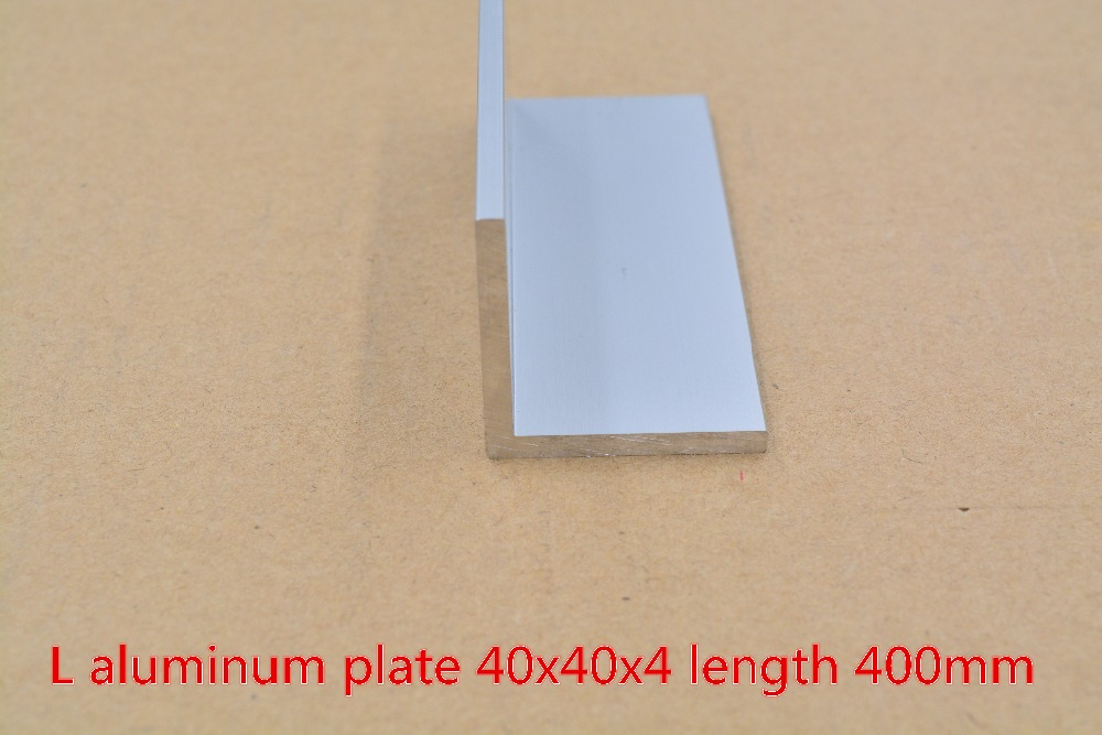 40mmx40mm Aluminum Plate Length 400mm L  Profile Angle  Thickness 4mm 1pcs