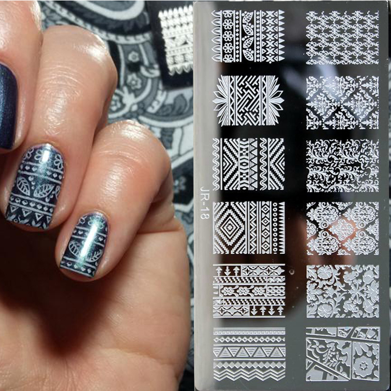 SuperDeals - 12*6cm JR1-20 High Quality Nail Stamping Plates ...