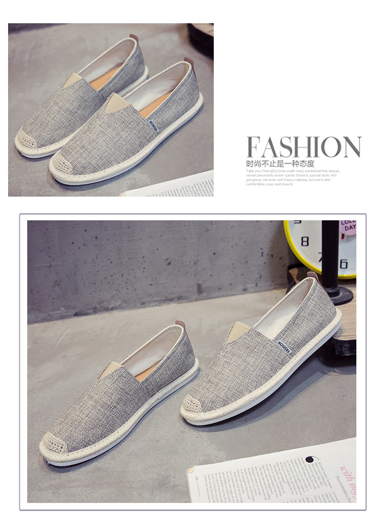 HTB1TtMCNHrpK1RjSZTEq6AWAVXaW UPUPER Breathable Linen Casual Men's Shoes Old Beijing Cloth Shoes Canvas Summer Leisure Flat Fisherman Driving Shoes Wicking