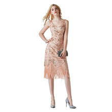 Women 20s Dress 1920s Flapper Gatsby Party Charleston Fringe Cocktail Latin Outfits