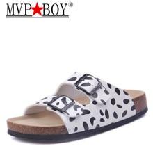 Mvp Boy 2018 NEW Men Cork Sandals Slippers Man Summer Style Double skin Beach New tide male cork slippers 35-45