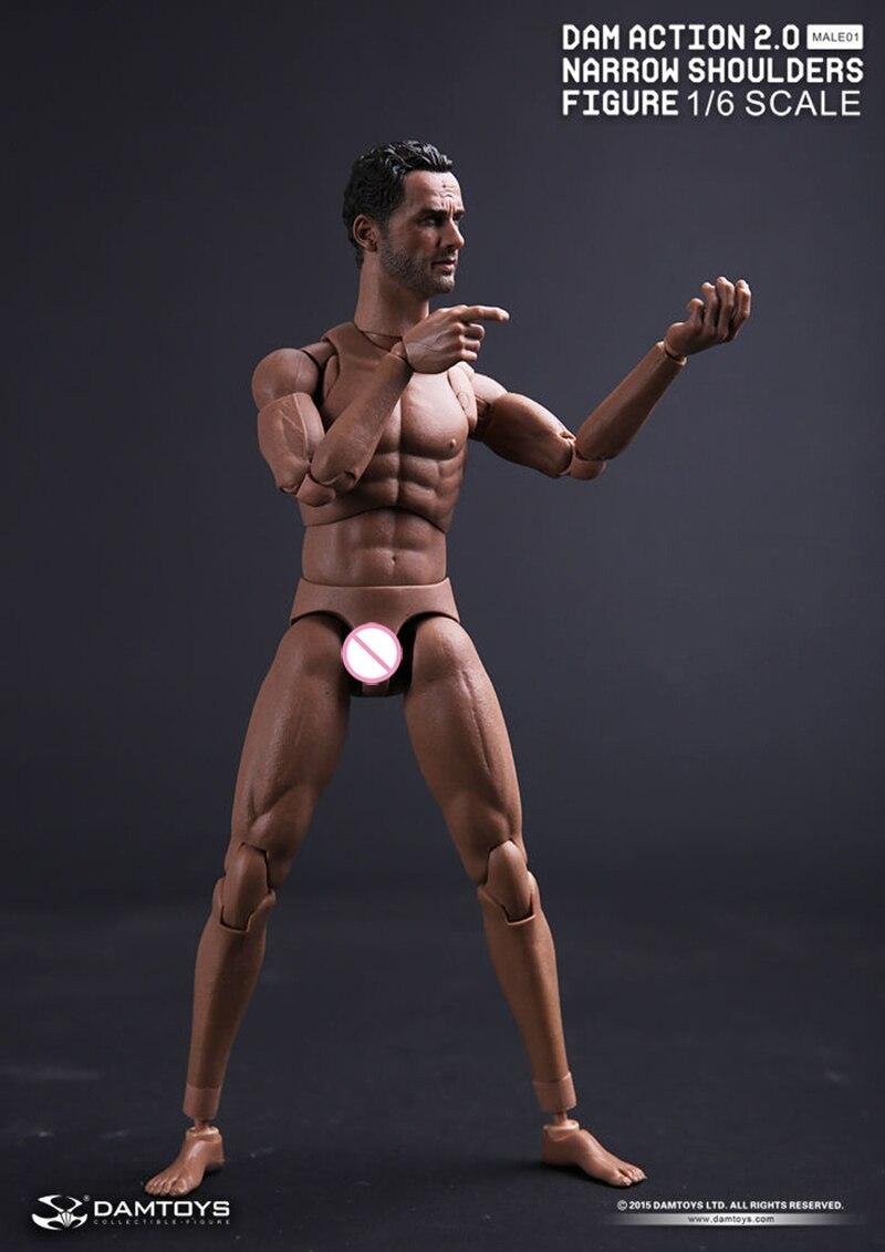Collection 1/6 jouets à l'échelle epaules étroites corps avec le Wlaking mort Rick Grimes tête Male01 mâle 02 corps poupée jouets-in Jeux d'action et figurines from Jeux et loisirs    1