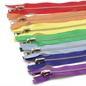 Двухсторонние молнии на молнии 5 #60/70/80/90/100/120/150 см, цвета розового золота, с двусторонней стороны, застежки-молнии для шитья