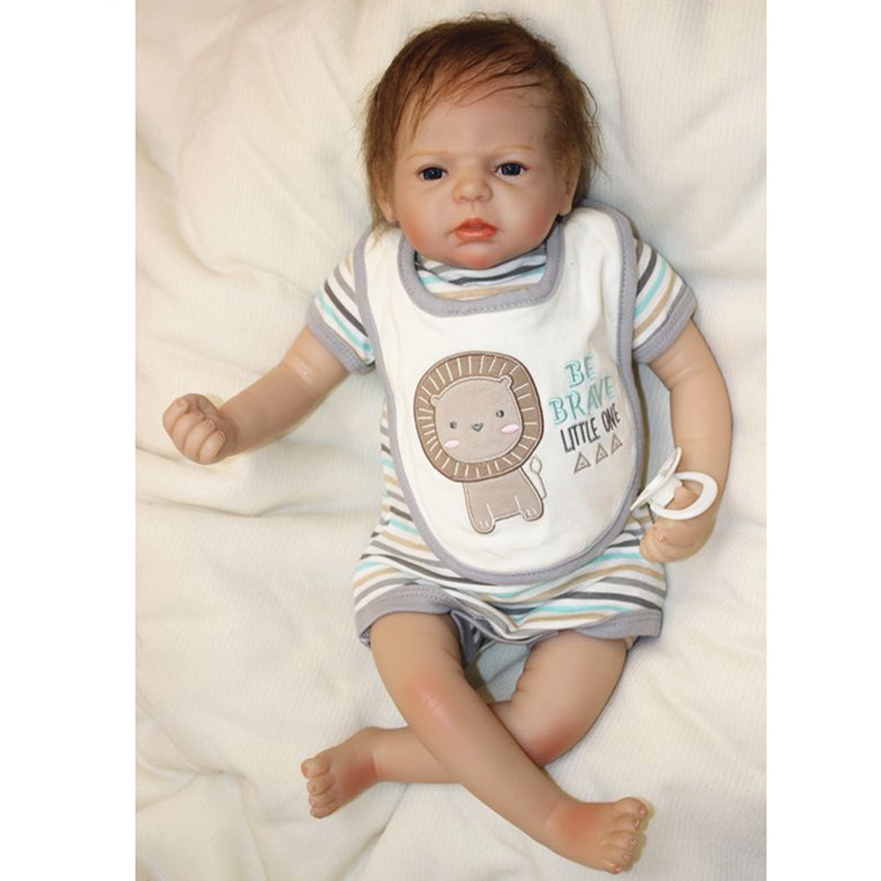 20 Inch Real Reborn Babies Bonecas Soft Vinyl Dolls for Children Birthday Present,50CM Reborn Baby Doll Education Toys for Kids