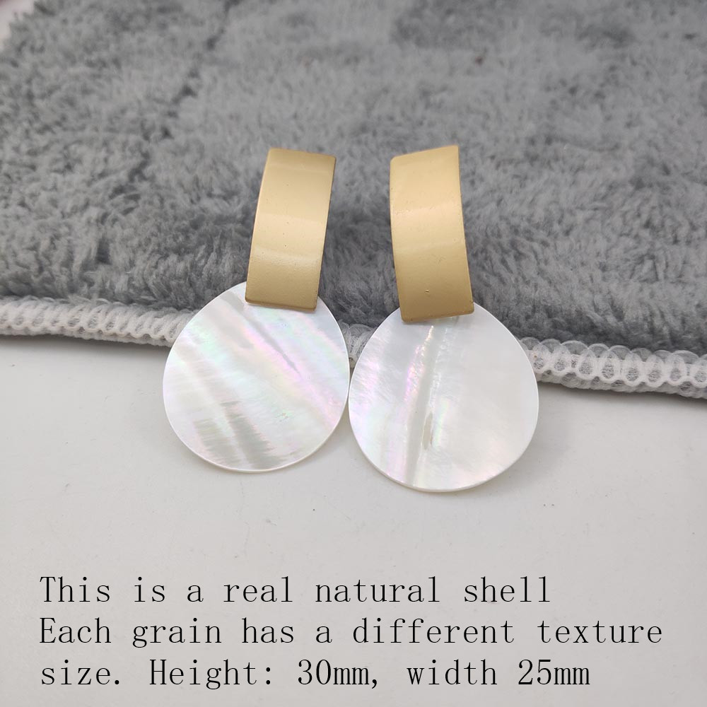 Fashion Wedding Jewelry Hanging Natural Shell Pearl Geometric Earrings High Quality Natural Shell Pendant Earrings for women P40 28