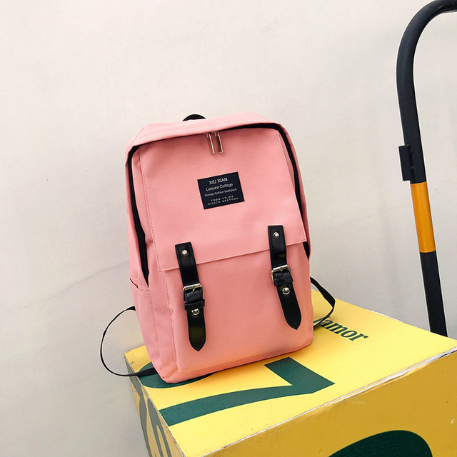 28d92ad77d1 Women External USB Charging Laptop Backpack for Teenage Girls Boys Big  Capacity School Bags Preppy Style Female Backpacks -in Backpacks from  Luggage & ...