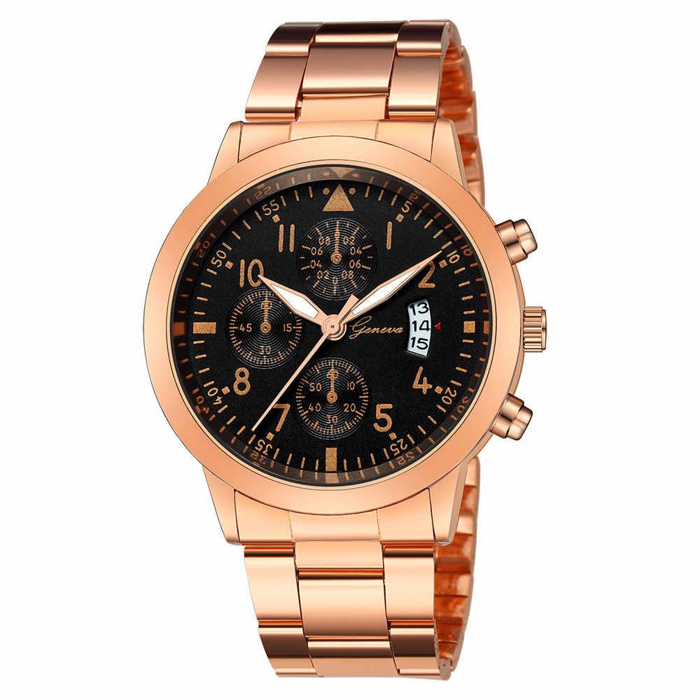 Relojes Hombre Pria Fashion Olahraga Jam Kuarsa Pria Jam Tangan Top Brand Mewah Bisnis Tahan Air Watch Relogio Masculino # C