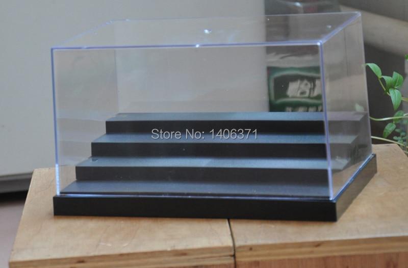 Four Steps Clear UV Acrylic Plastic Display Box Case