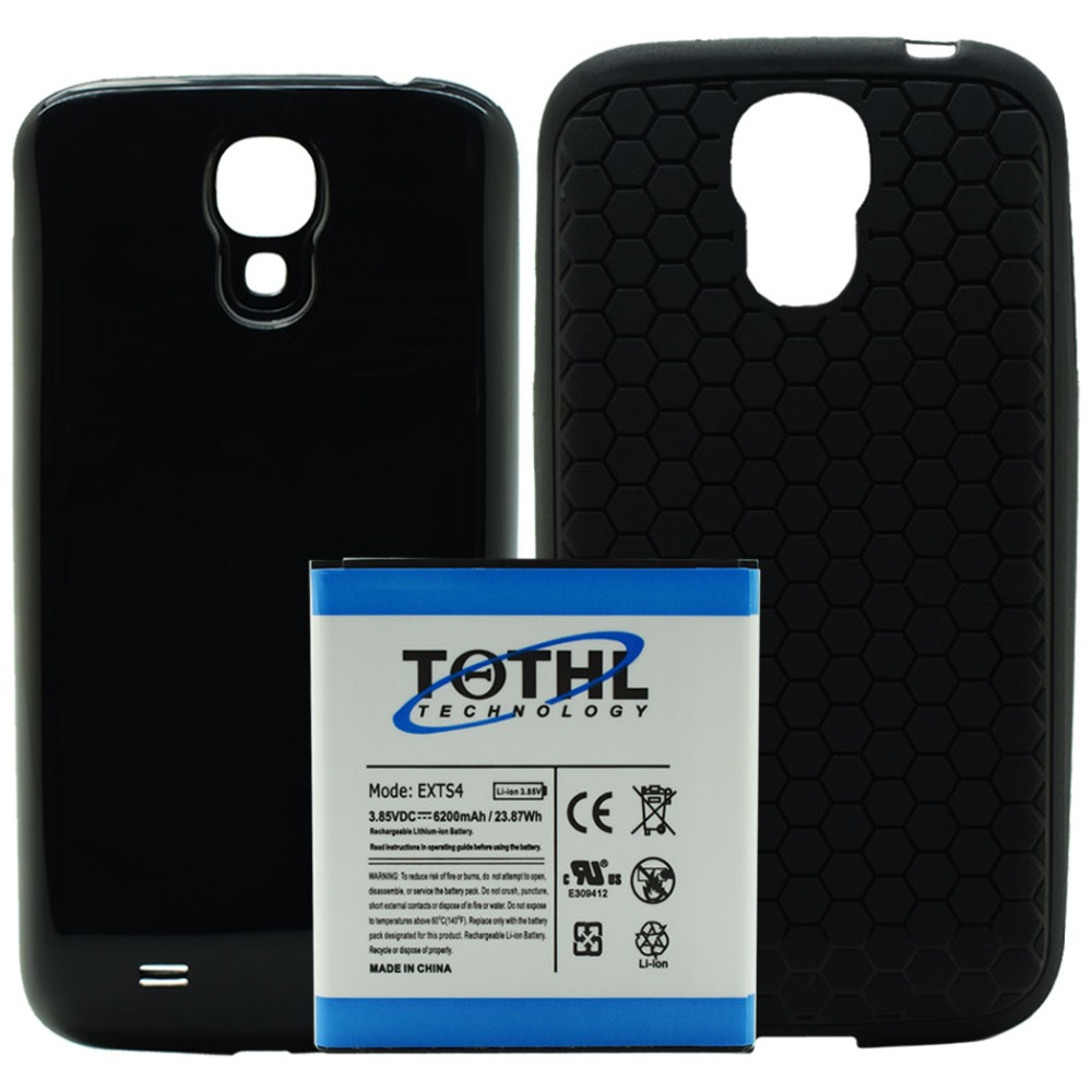 imágenes para Nuevo 6200 mah amplió la batería del teléfono móvil bateria + bateria de la puerta para samsung galaxy s4 siv i545 i337 l720 m919 r970 m919n s970
