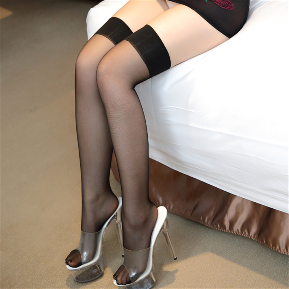 transparent Ultrathin High cylinder Anti Defiler projectile Silk stockings pantyhose tights fishnet sexy lingerie